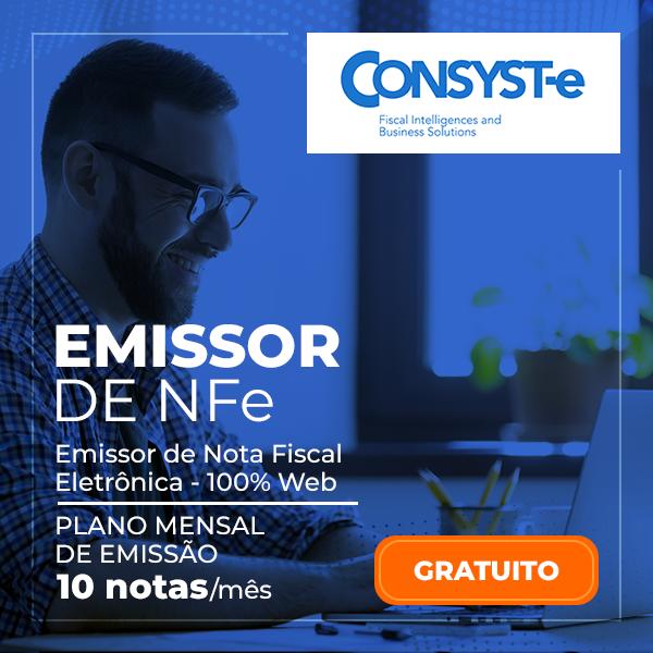 Emissor NFe - Plano Mensal 10 Notas - Gratuito - Consyste